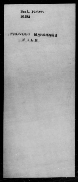 Neal, Porter - State: [Blank] - Year: [Blank]