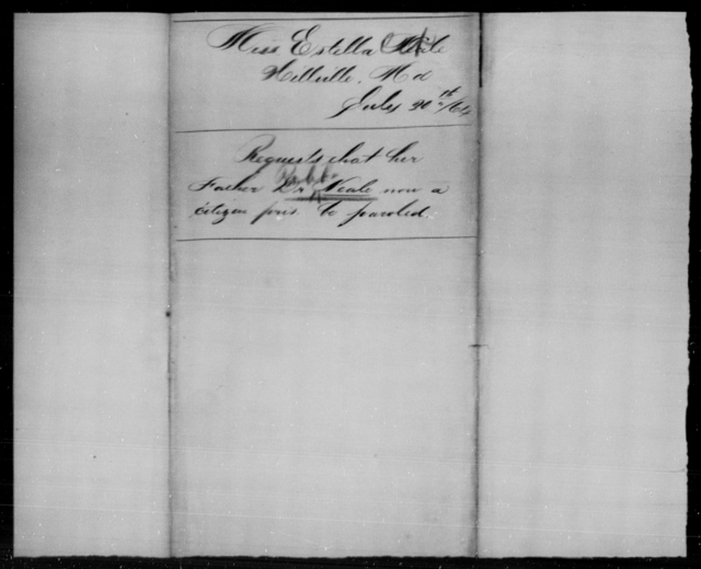 Neal, Robt - State: Maryland - Year: 1864