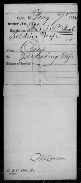 Neal, S P - State: Illinois - Year: 1864