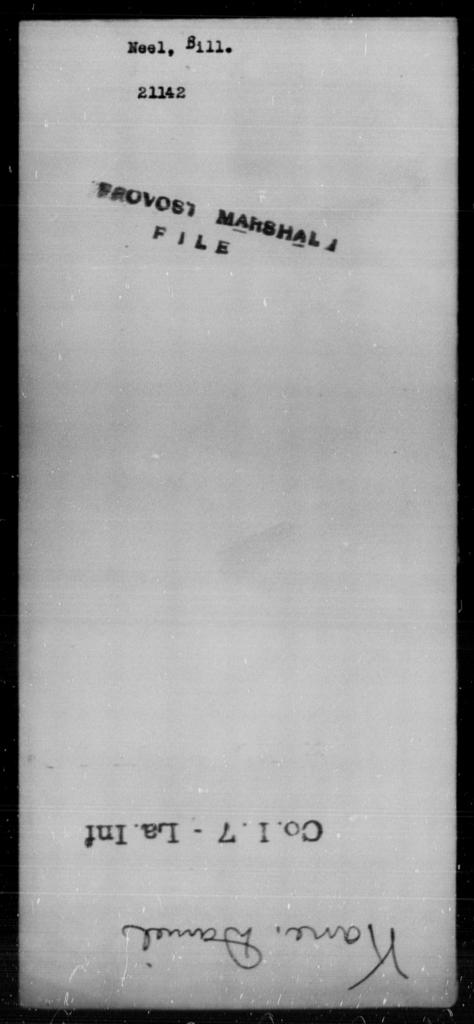 Neel, Bill - State: [Blank] - Year: [Blank]