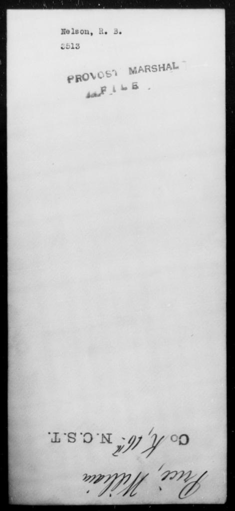 Nelson, R B - State: [Blank] - Year: [Blank]