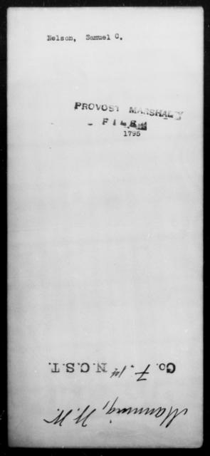 Nelson, Samuel C - State: [Blank] - Year: [Blank]