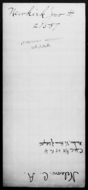 Newkirk, Jno H - State: [Blank] - Year: [Blank]