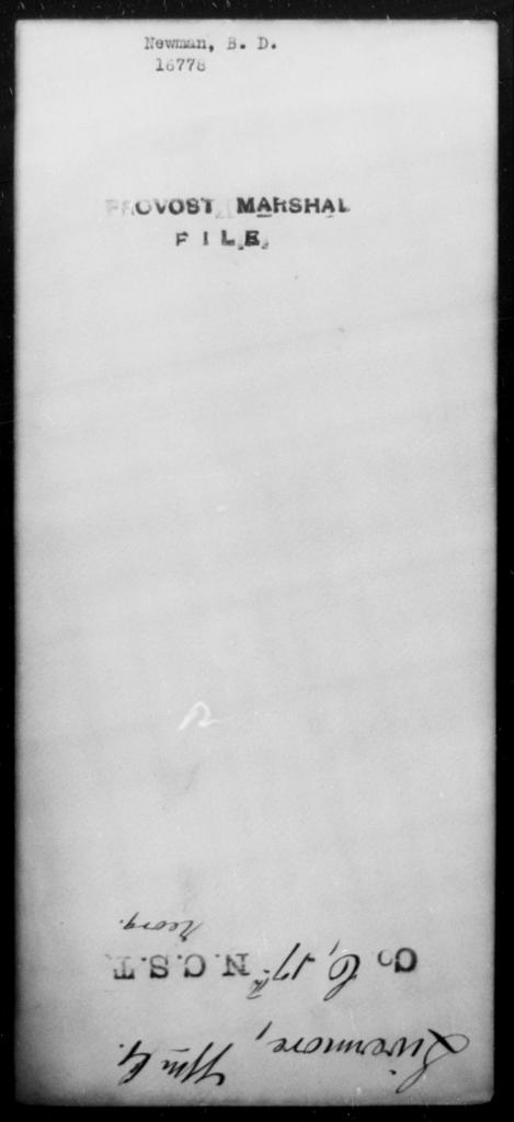 Newman, B D - State: [Blank] - Year: [Blank]