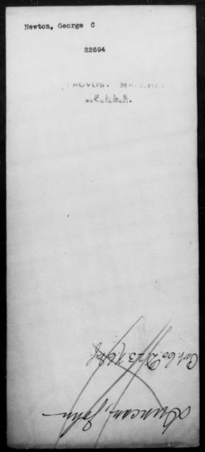 Newton, George C - State: [Blank] - Year: [Blank]