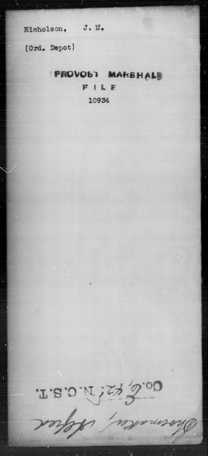 Nicholson, J M - State: [Blank] - Year: [Blank]