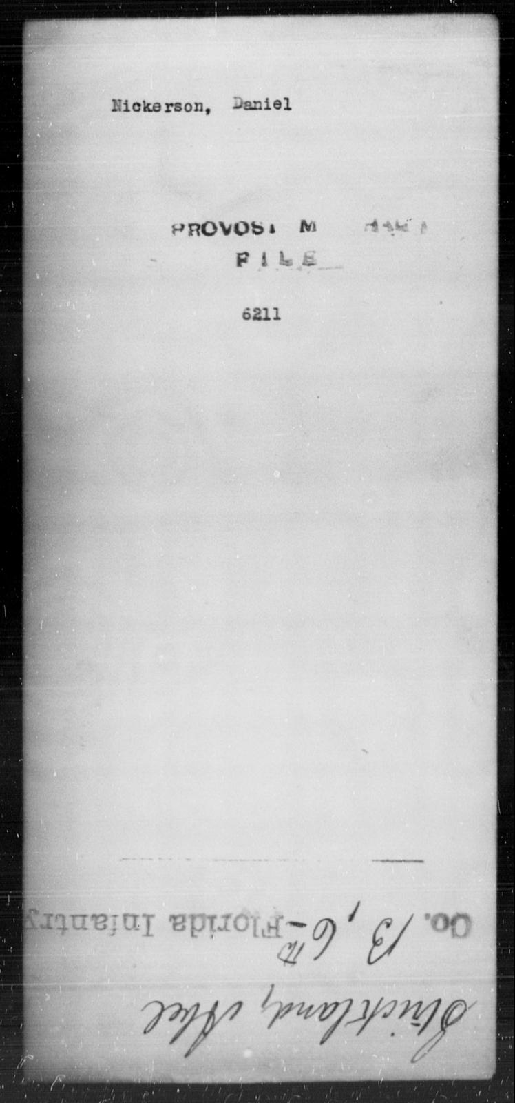 Nickerson, Daniel - State: [Blank] - Year: [Blank]