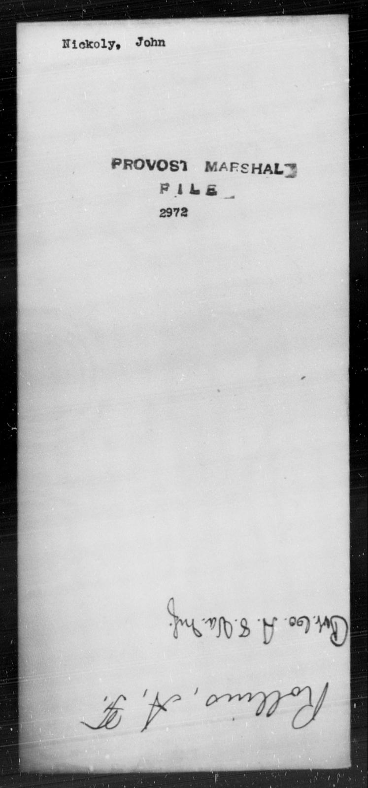 Nickoly, John - State: [Blank] - Year: [Blank]