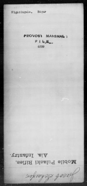 Nightingale, Edgar - State: [Blank] - Year: [Blank]