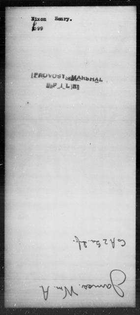 Nixon, Henry - State: [Blank] - Year: [Blank]