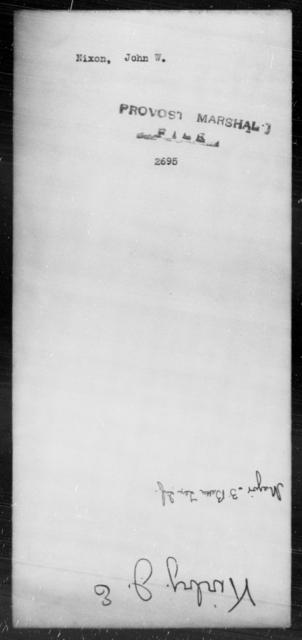 Nixon, John W - State: [Blank] - Year: [Blank]