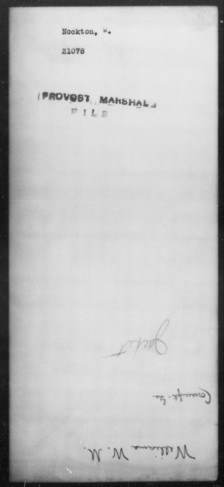 Nockton, W - State: [Blank] - Year: [Blank]