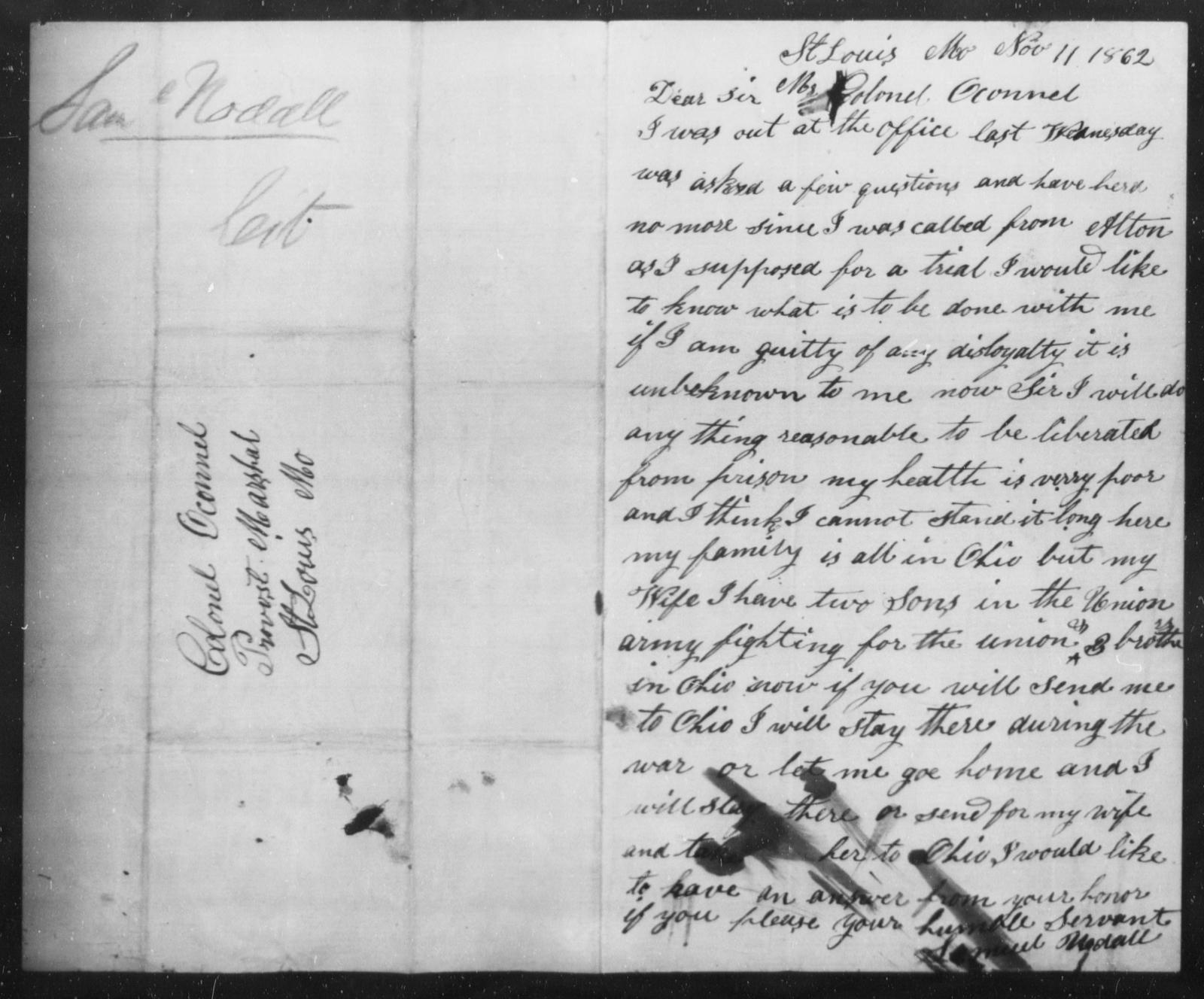 Noddll, Samuel - State: Missouri - Year: 1862