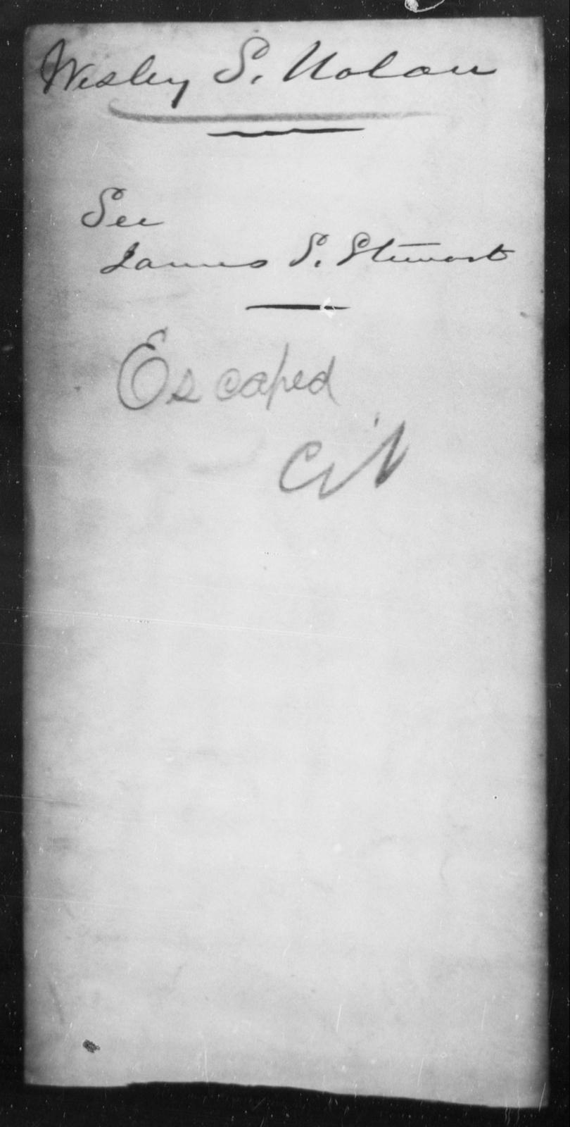 Nolan, Wisley S - State: Virginia - Year: 1862