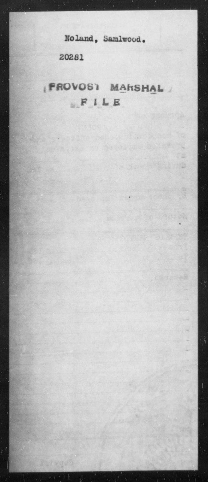 Noland, Samlwood - State: [Blank] - Year: [Blank]