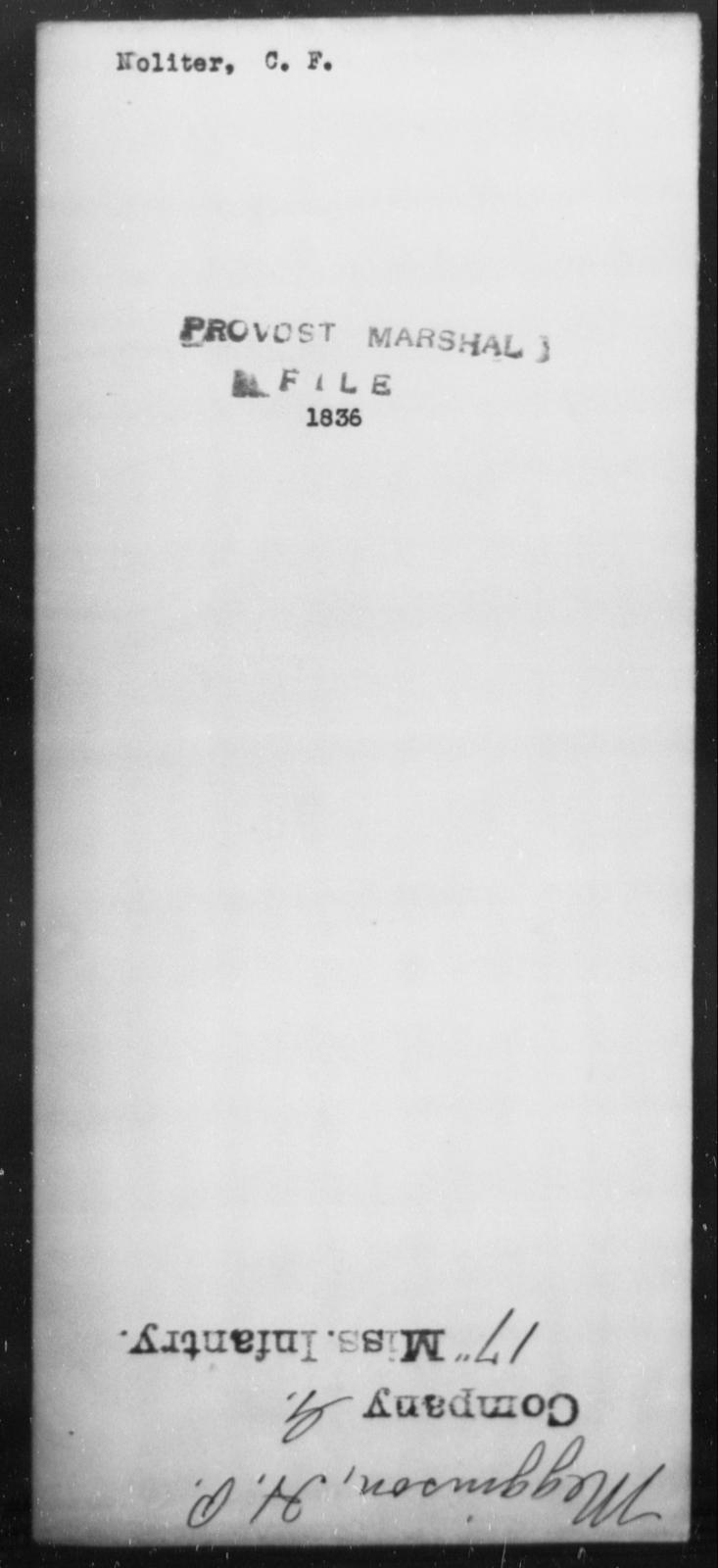 Noliter, C F - State: [Blank] - Year: [Blank]