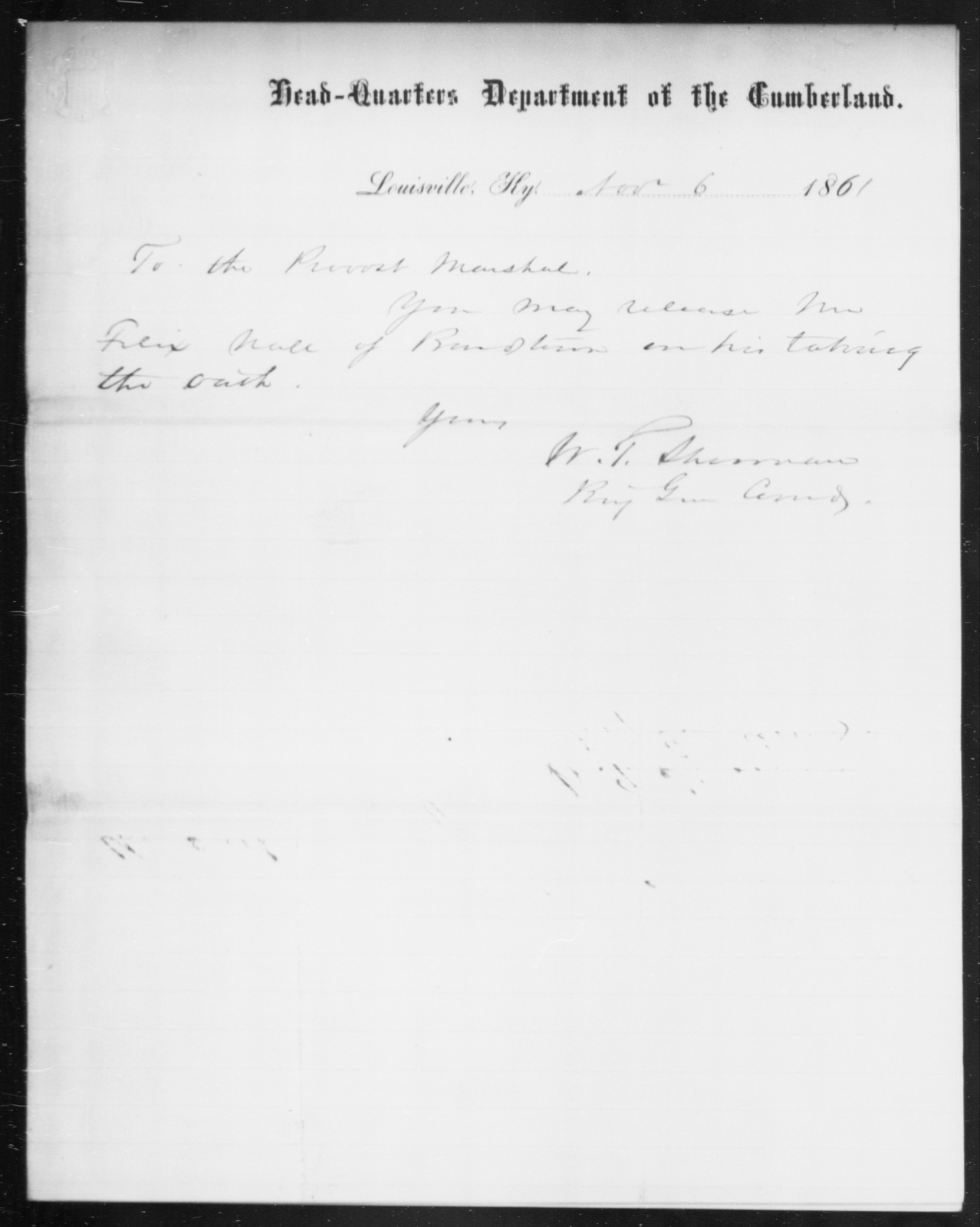 Noll, Felix - State: Kentucky - Year: 1861