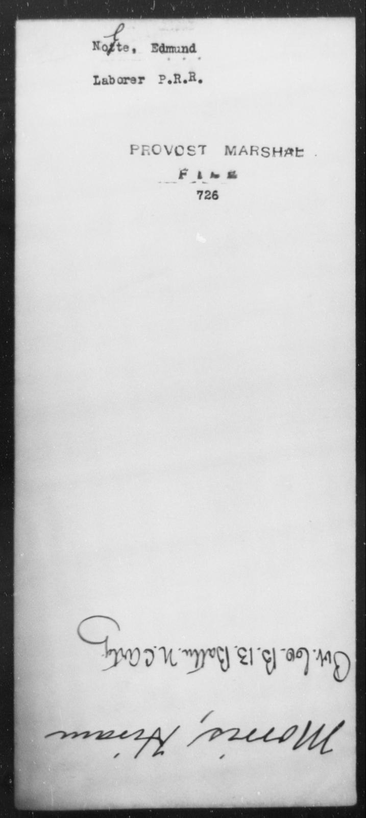 Nolte, Edmund - State: [Blank] - Year: [Blank]