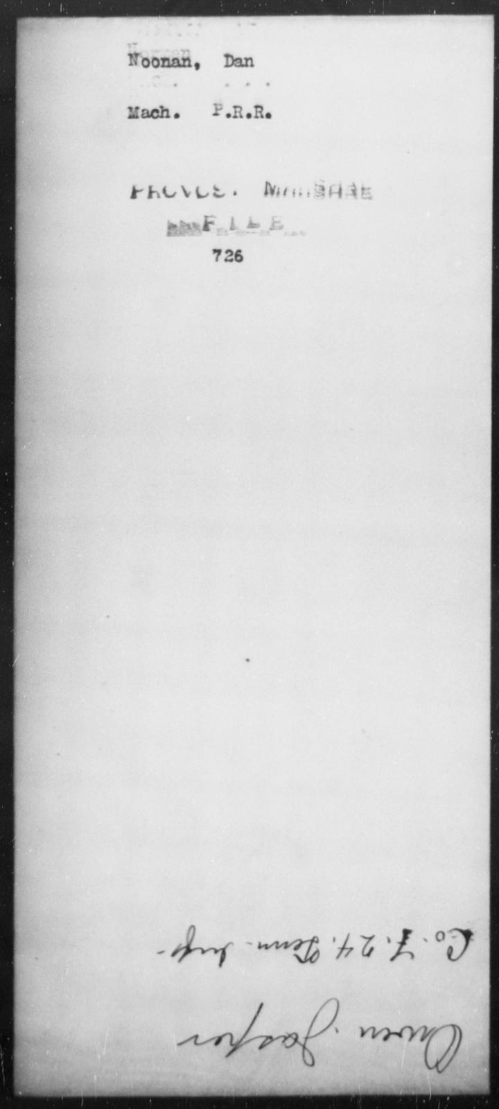 Noonan, Dan - State: [Blank] - Year: [Blank]