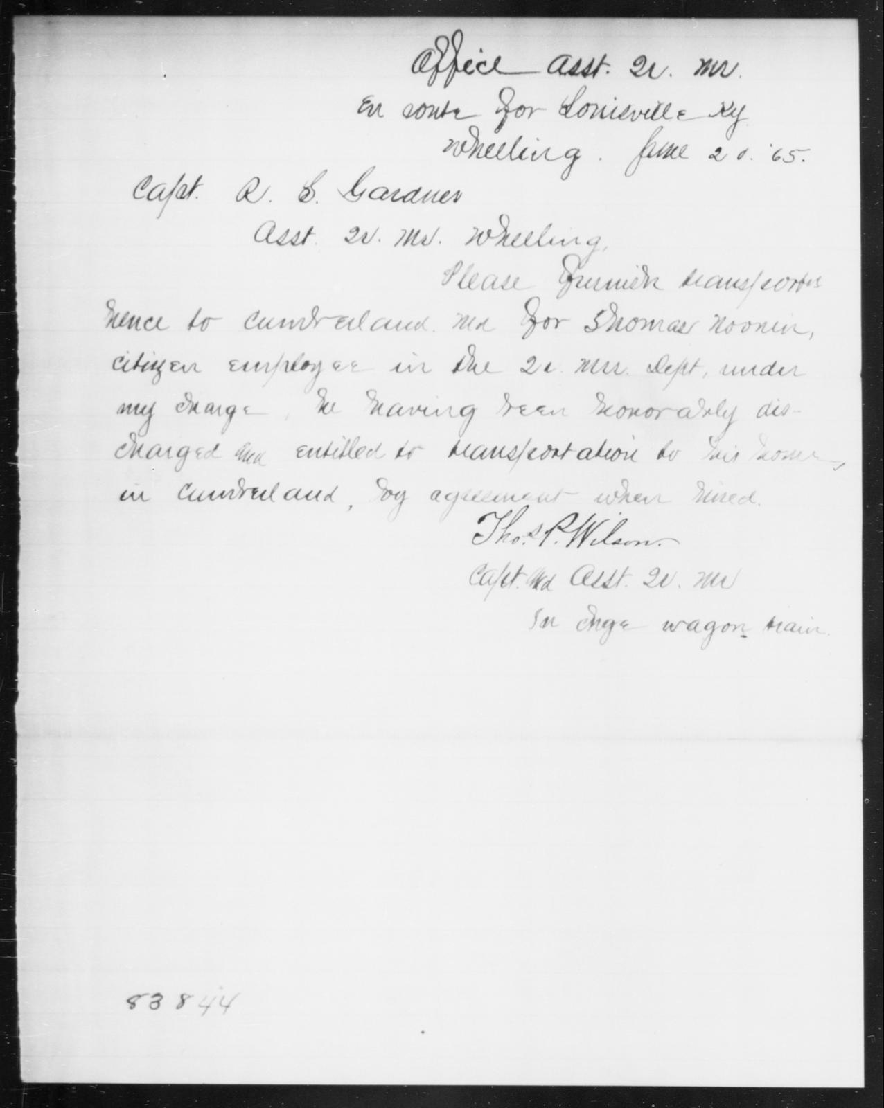 Noonen, Thomas - State: Kentucky - Year: 1865