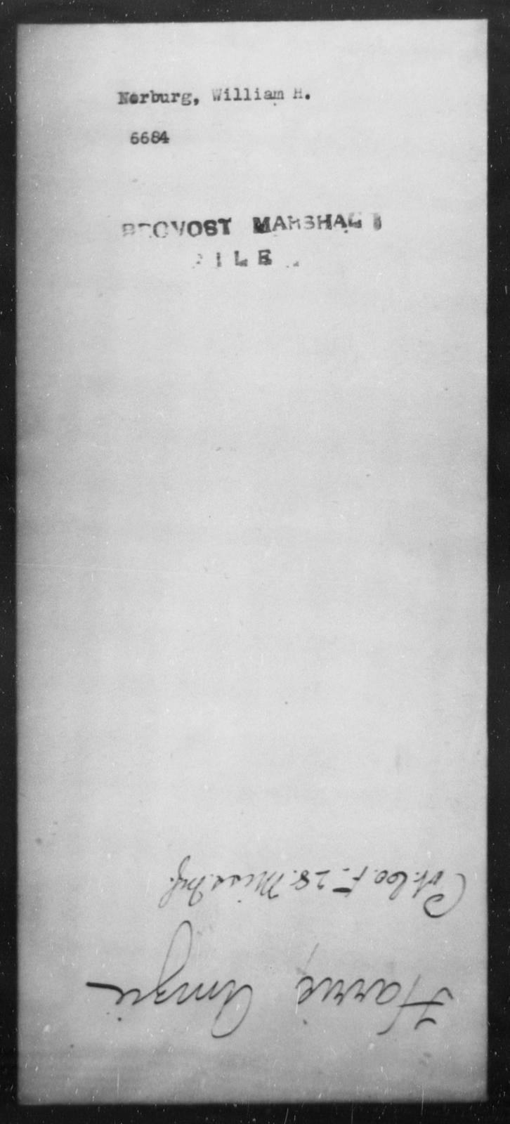 Norburg, William H - State: [Blank] - Year: [Blank]