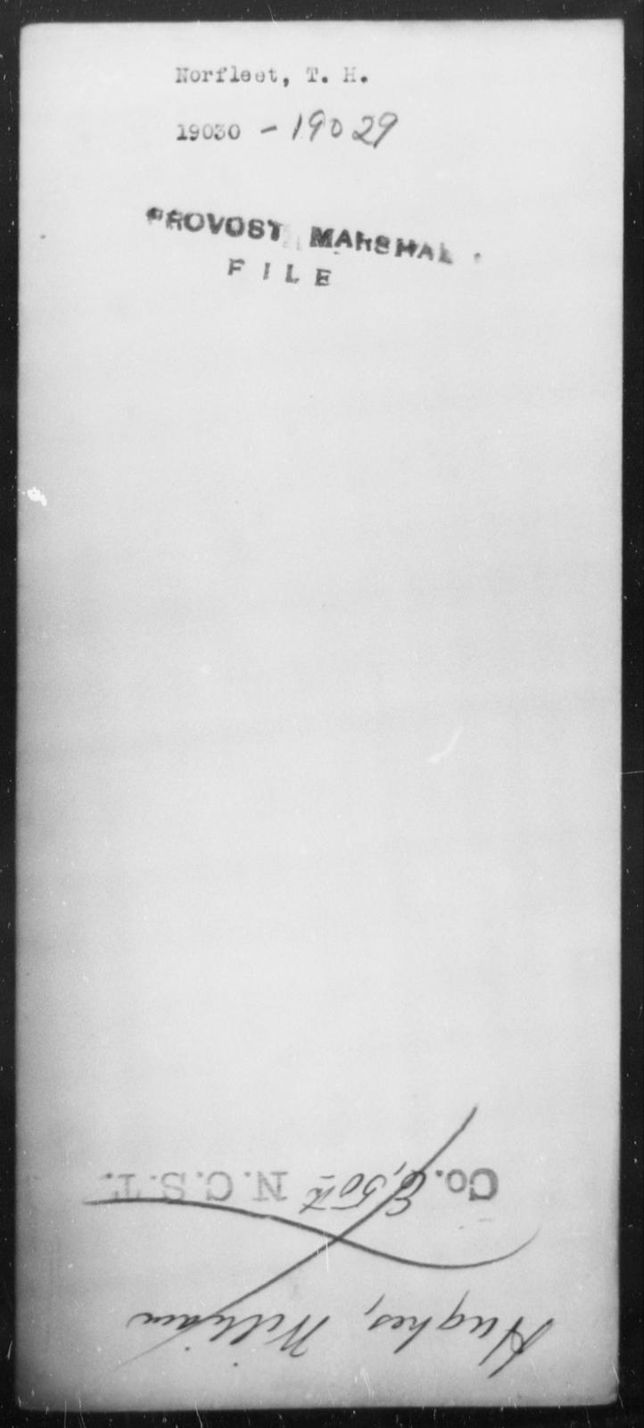 Norfleet, T H - State: [Blank] - Year: [Blank]