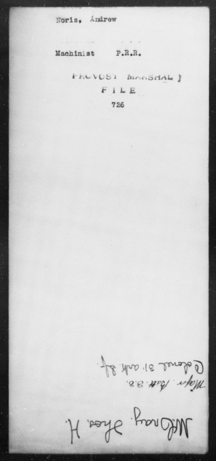 Noris, Andrew - State: [Blank] - Year: [Blank]