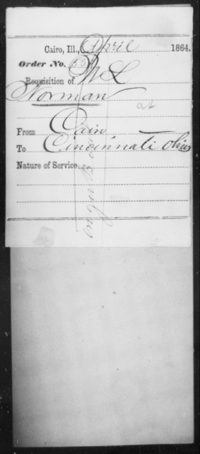 Norman, W L - State: Illinois - Year: 1864