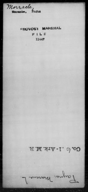 Norracle, Rufus - State: [Blank] - Year: [Blank]