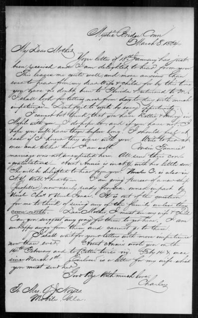 Noyes, O J - State: Connecticut - Year: 1864