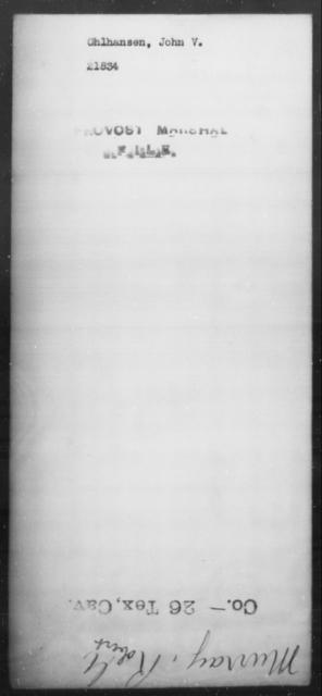 Ohlhansen, John V - State: [Blank] - Year: [Blank]