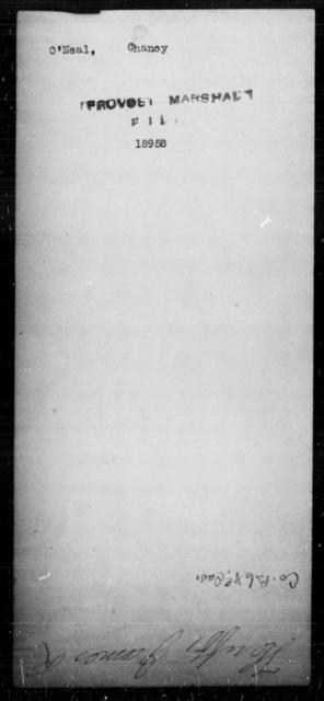 O'Neal, Chancy - State: [Blank] - Year: [Blank]