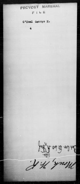 O'Neal, George H - State: [Blank] - Year: [Blank]