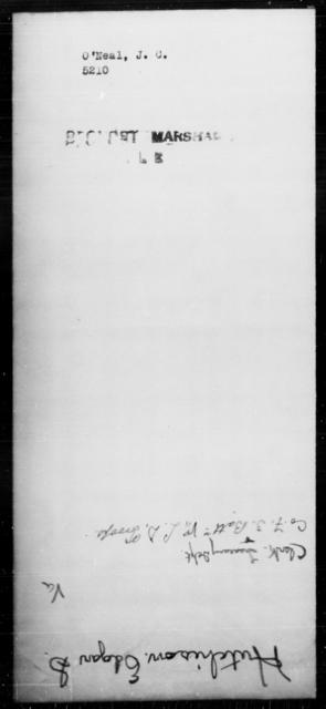 O'Neal, J C - State: [Blank] - Year: [Blank]