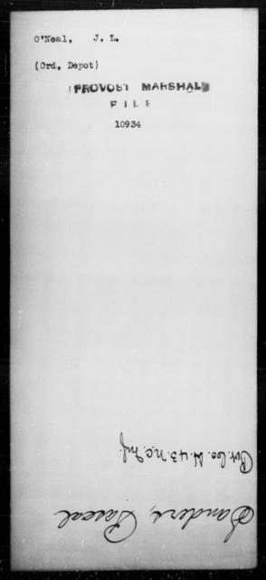 O'Neal, J L - State: [Blank] - Year: [Blank]