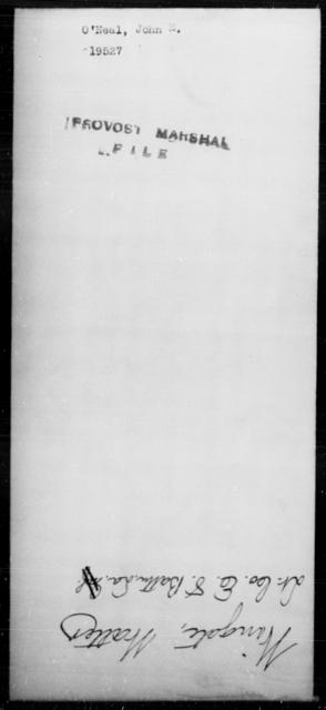 O'Neal, John E - State: [Blank] - Year: [Blank]