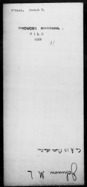 O'Neal, Joseph E - State: [Blank] - Year: [Blank]