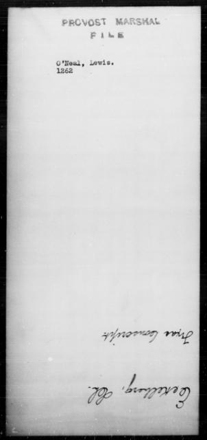 O'Neal, Lewis - State: [Blank] - Year: [Blank]
