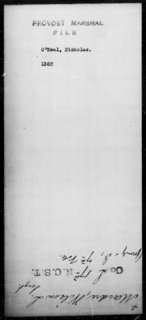 O'Neal, Nicholas - State: [Blank] - Year: [Blank]