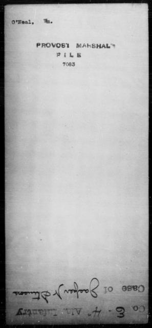 O'Neal, Wm - State: [Blank] - Year: [Blank]