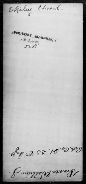 O'Riley, Edward - State: [Blank] - Year: [Blank]