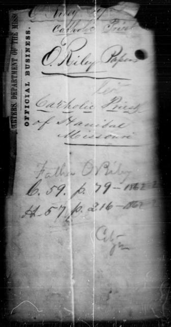 O'Riley, Peter J - State: Missouri - Year: 1862