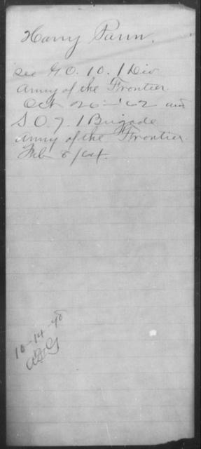Pann, Harry - State: [Blank] - Year: 1862