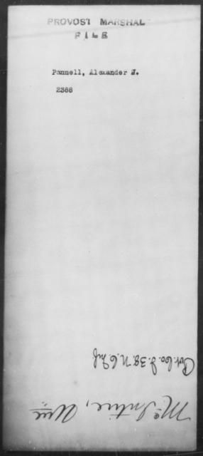 Pannell, Alexnader J - State: [Blank] - Year: [Blank]