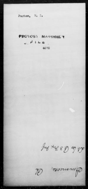 Parham, W T - State: [Blank] - Year: [Blank]