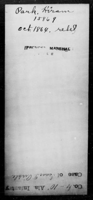 Park, Hiram - State: [Blank] - Year: 1864