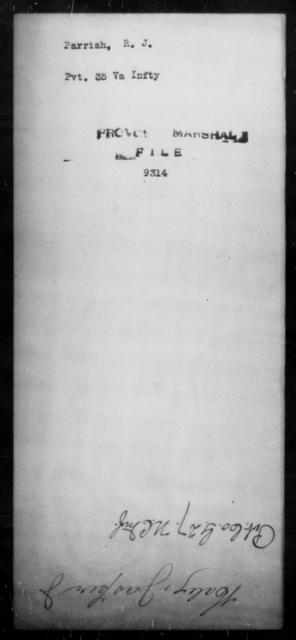 Parrish, R J - State: Virginia - Year: [Blank]