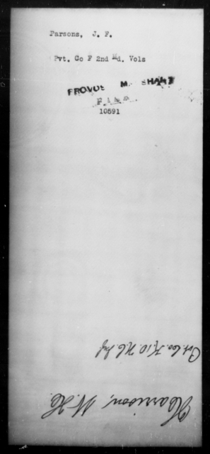 Parsons, J F - State: Maryland - Year: [Blank]
