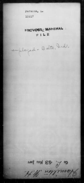Parsons, L - State: Maryland - Year: [Blank]