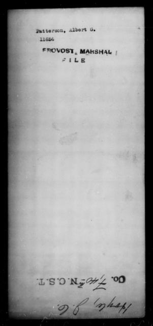 Patterson, Albert G - State: [Blank] - Year: [Blank]